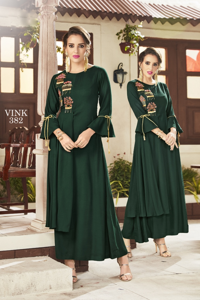 Two Tone Viscose Handloom Kurti