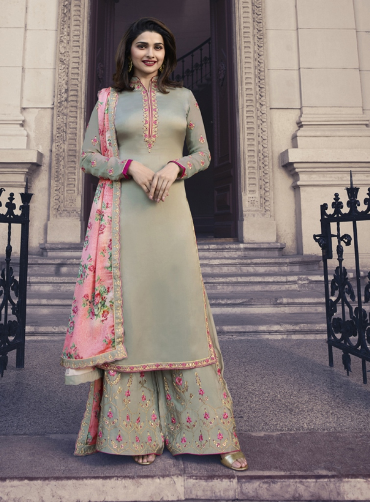 Silk Kameez Light Olive color