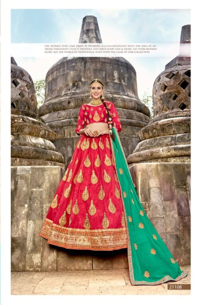 HEAVY MULTI ZARI EMBRODIERY AND DAIMOND WITH EMBRODIERED LEHNGA SHUT
