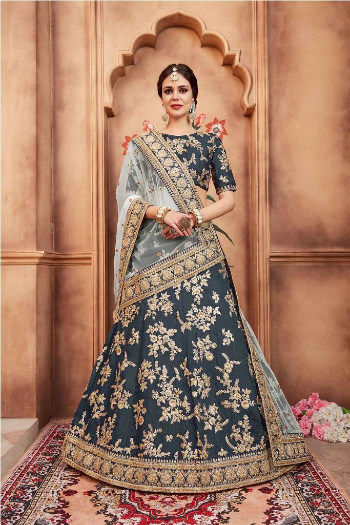 Go With The Lovely Shades With This Heavy Designer Lehenga Choli
