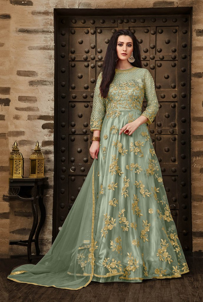 Olverall Attractive Look Pretty Deisgner Floor Length Suit