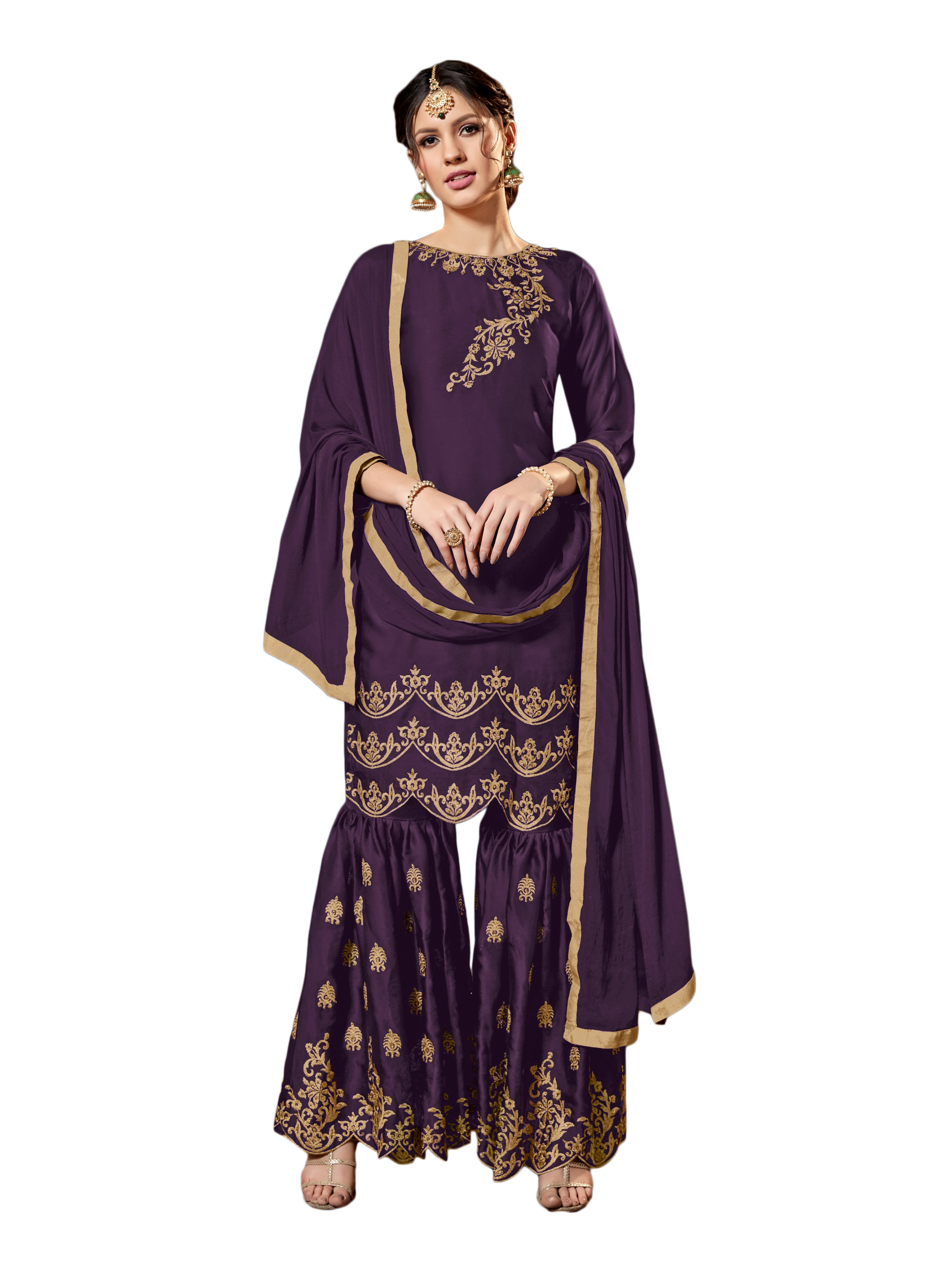 Upcoming Festive And Wedding Season With This Heavy Designer Sharara Suit
