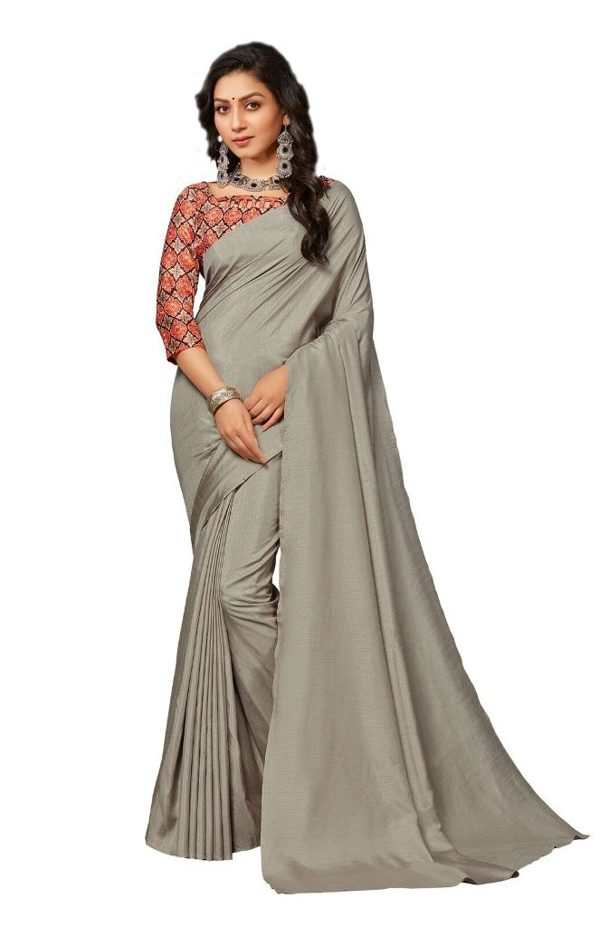 Simplicity Is The Key To Elegance Grab This Very Pretty Simple And Elegant Looking plain Saree