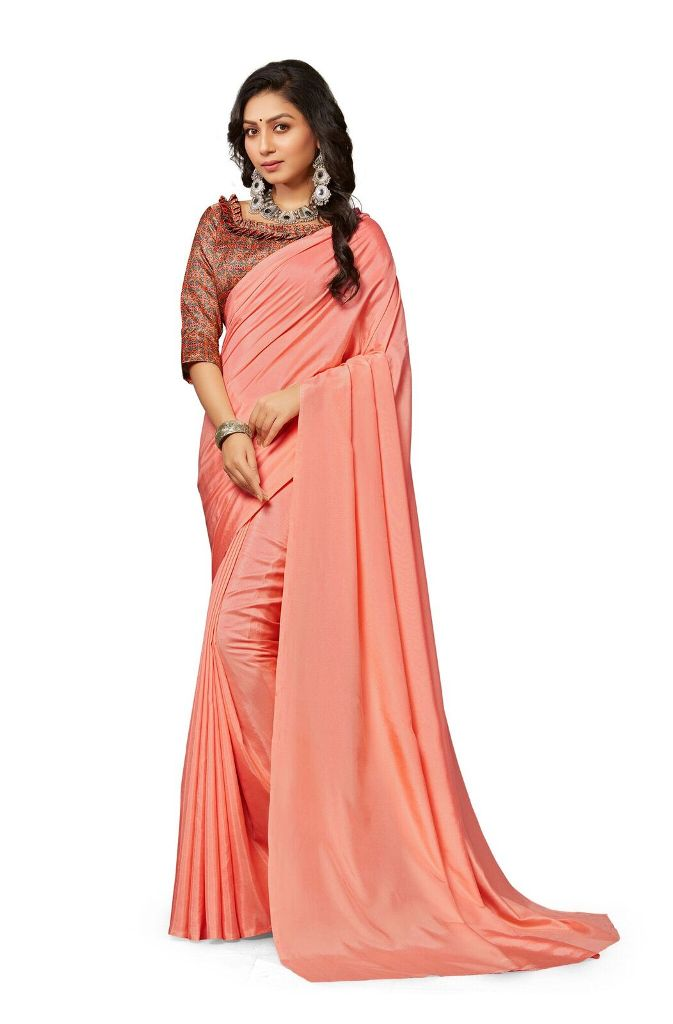 Rich And Elegant Looking Plain Saree IS Here