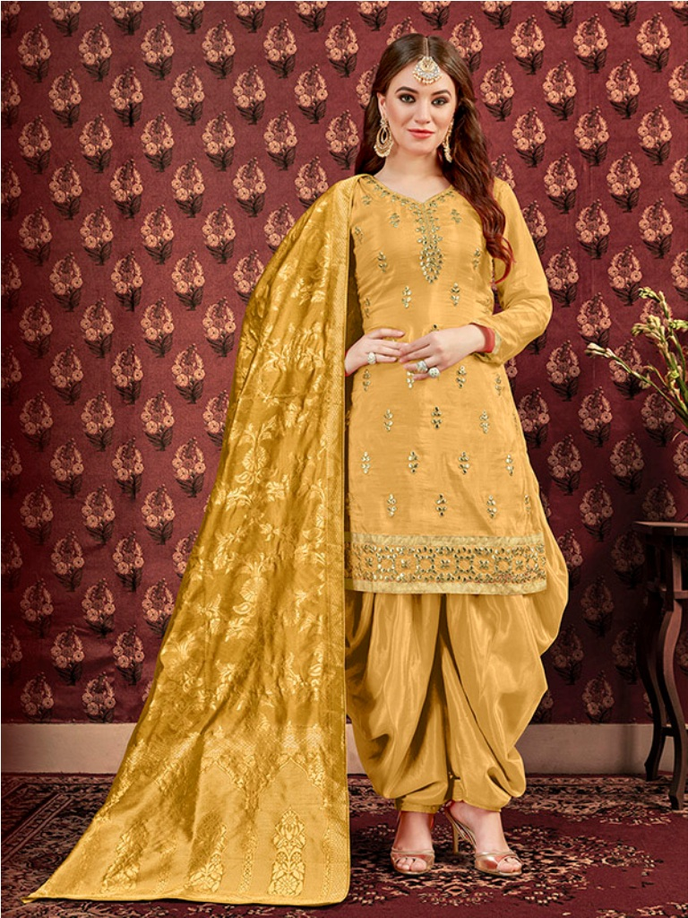 Celebrate This Festive Season Wearing This Designer Patiyala Suit