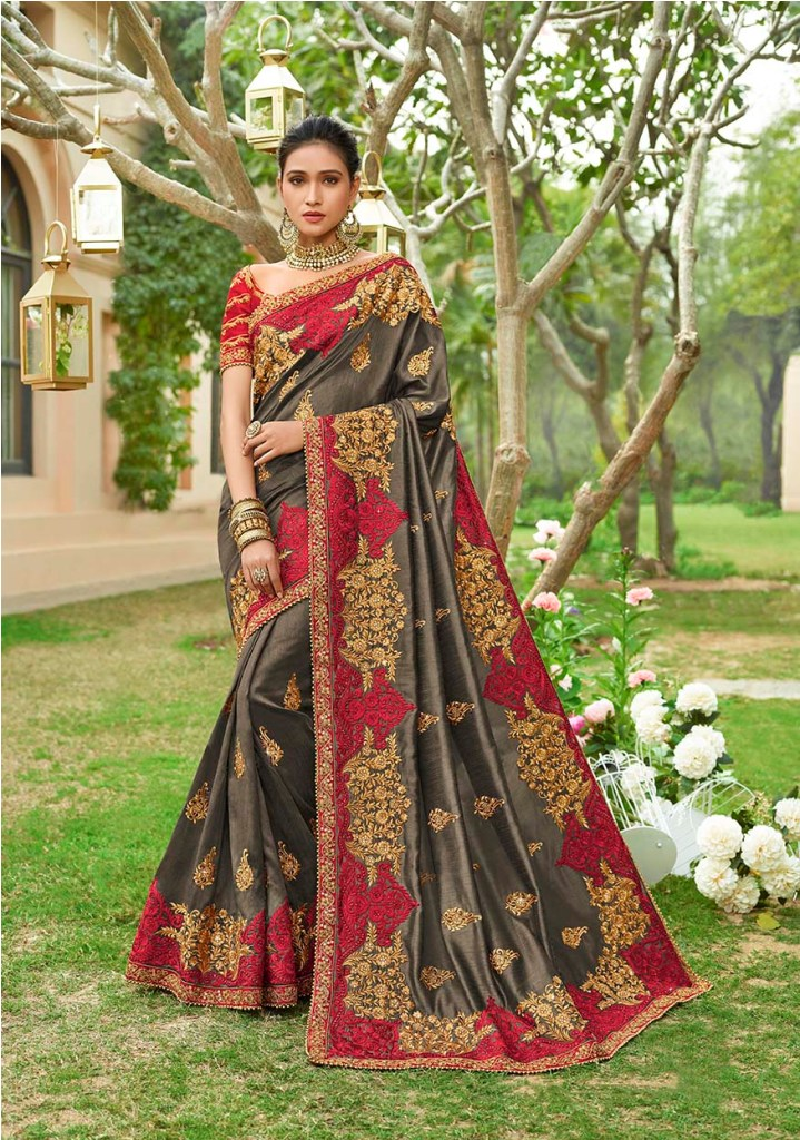 Shine Bright Wearing This Heavy Designer Saree