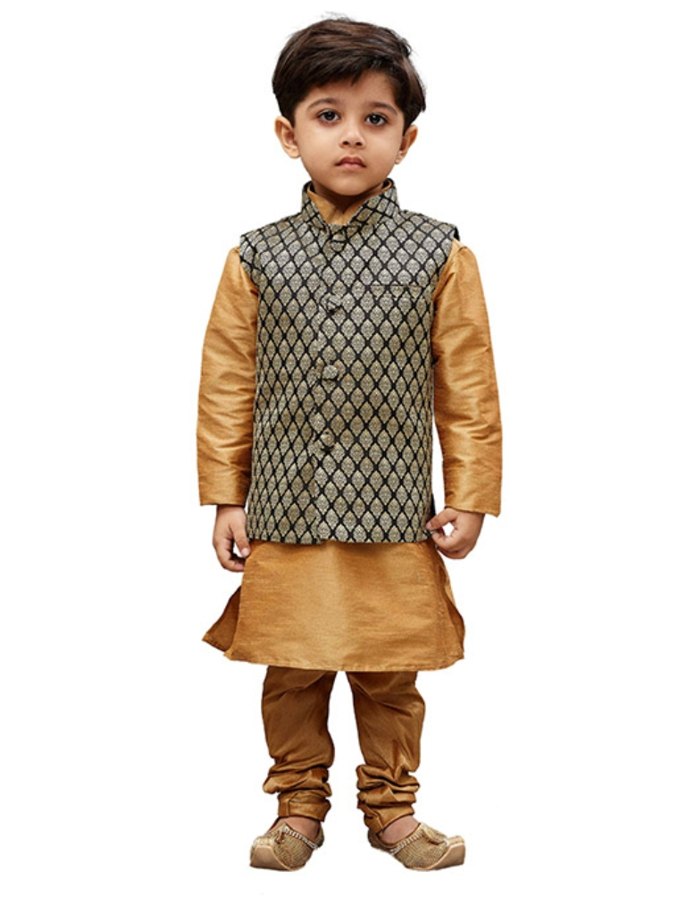Get Your Cute Little Kids This Amazing Pair Of Kurta Pyjama With ModiNehru Style Jacket For The Upcoming Festive