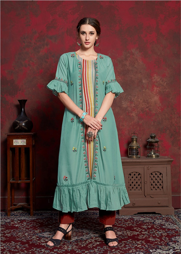 Here Is A Beautiful Jacket Patterned Designer Readymade Kurti