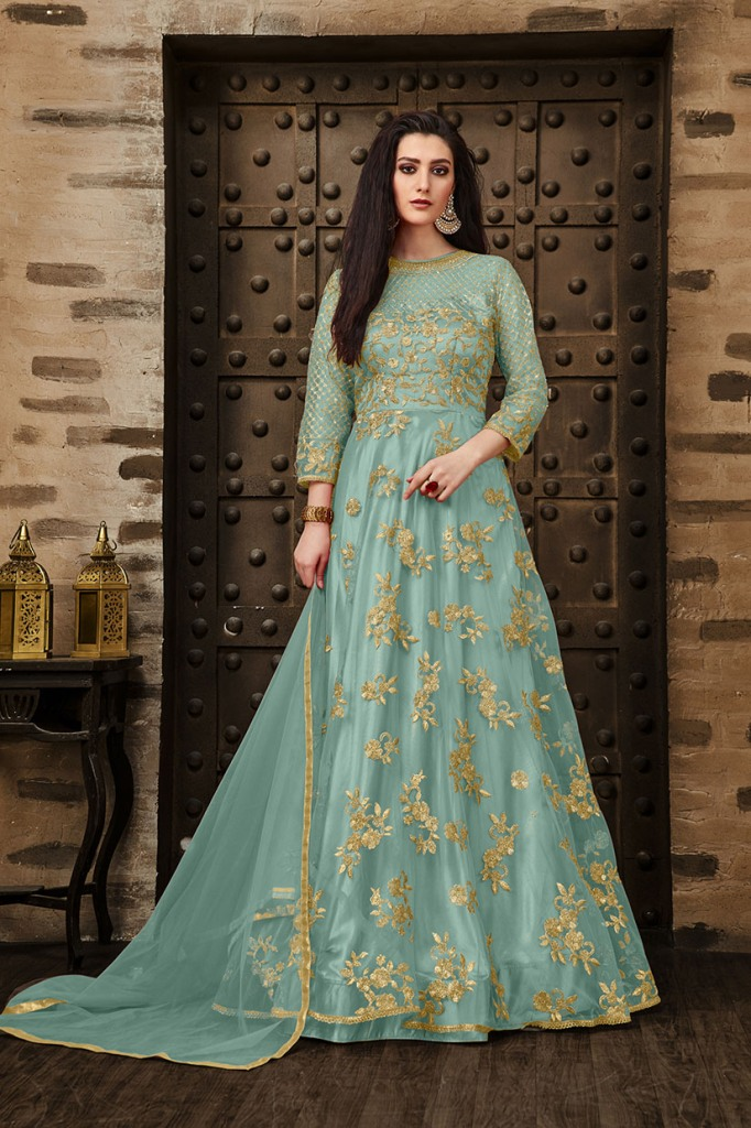 Add This Very Pretty Rich And Elegant Looking Designer Floor Length Suit