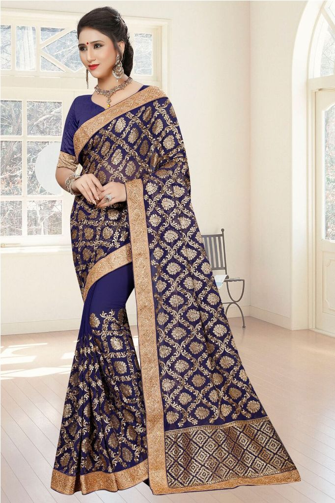 For A Bold And Beautiful Look, Grab This Designer Heavy Saree