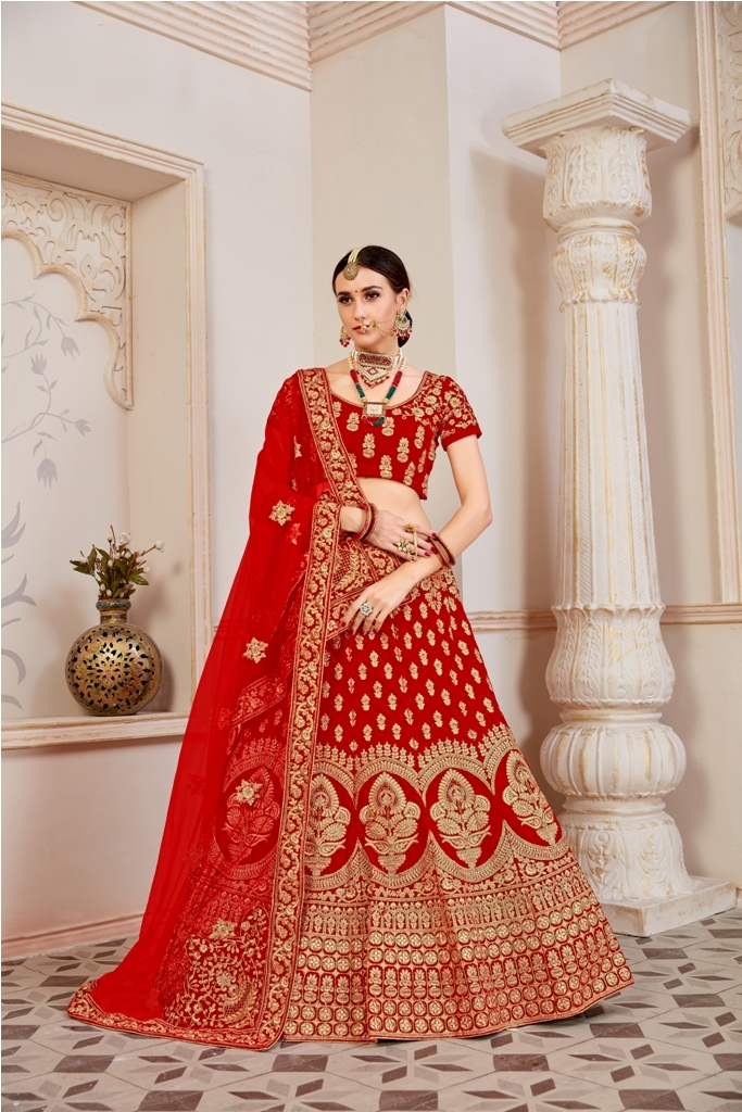 Beautified With Heavy Coding Jari Embroidery lehnga