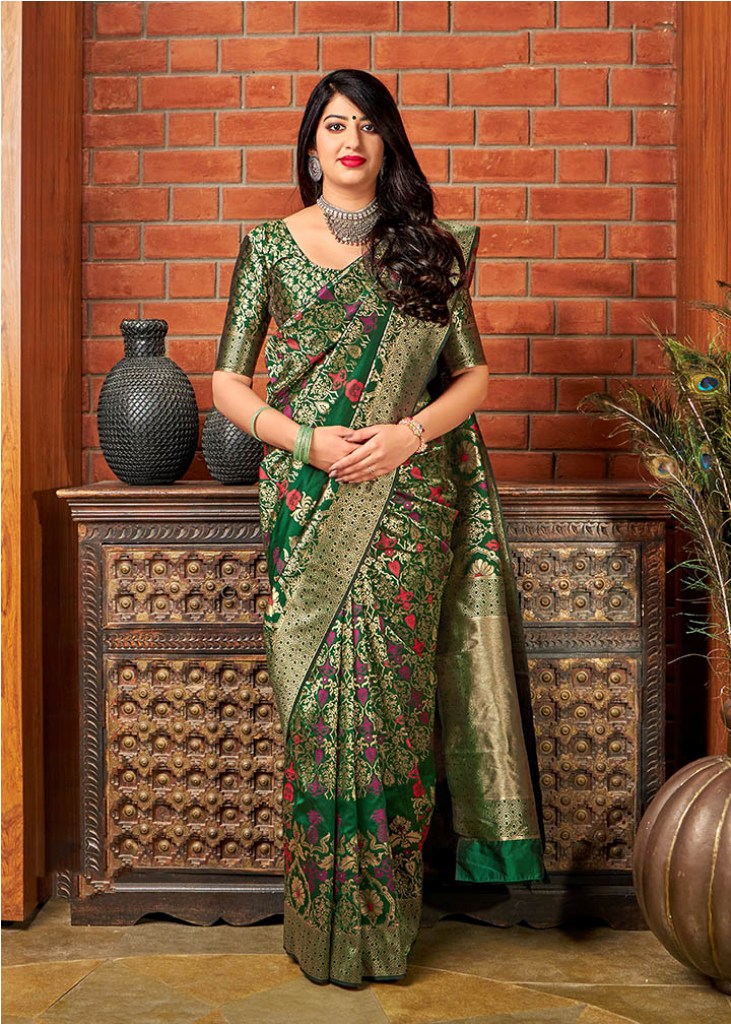 Adorn The Angelic Look Wearing This Designer Silk Based Saree