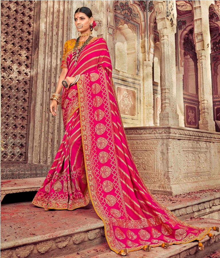 Celebrate This Festive Season Wearing This Designer Silk Based Saree