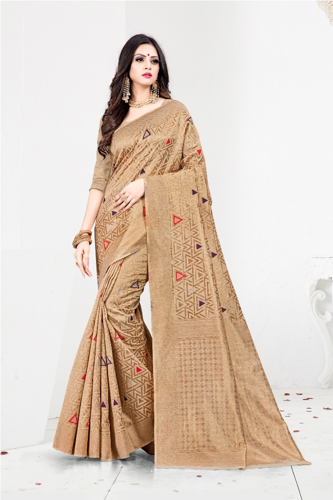 Shine Bright In This Designer Silk Based Saree