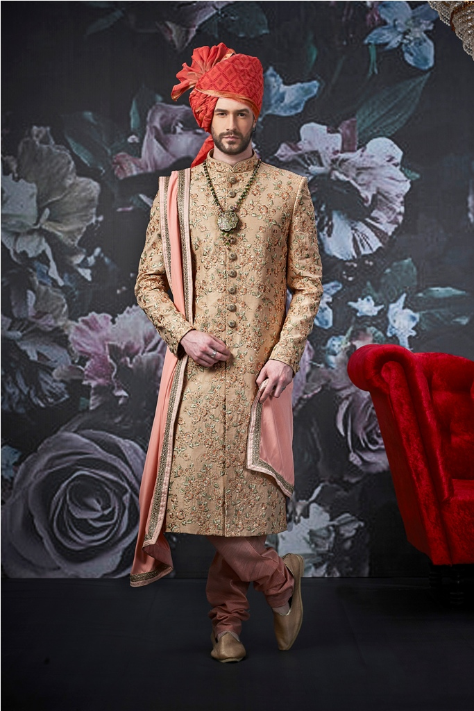 Designer embroid wedding and party wear SHERWANI