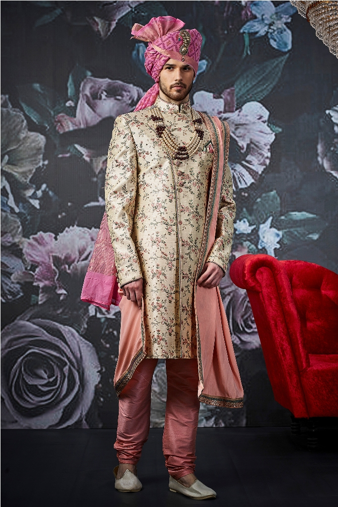 Designer embroid wedding and party wear indo western