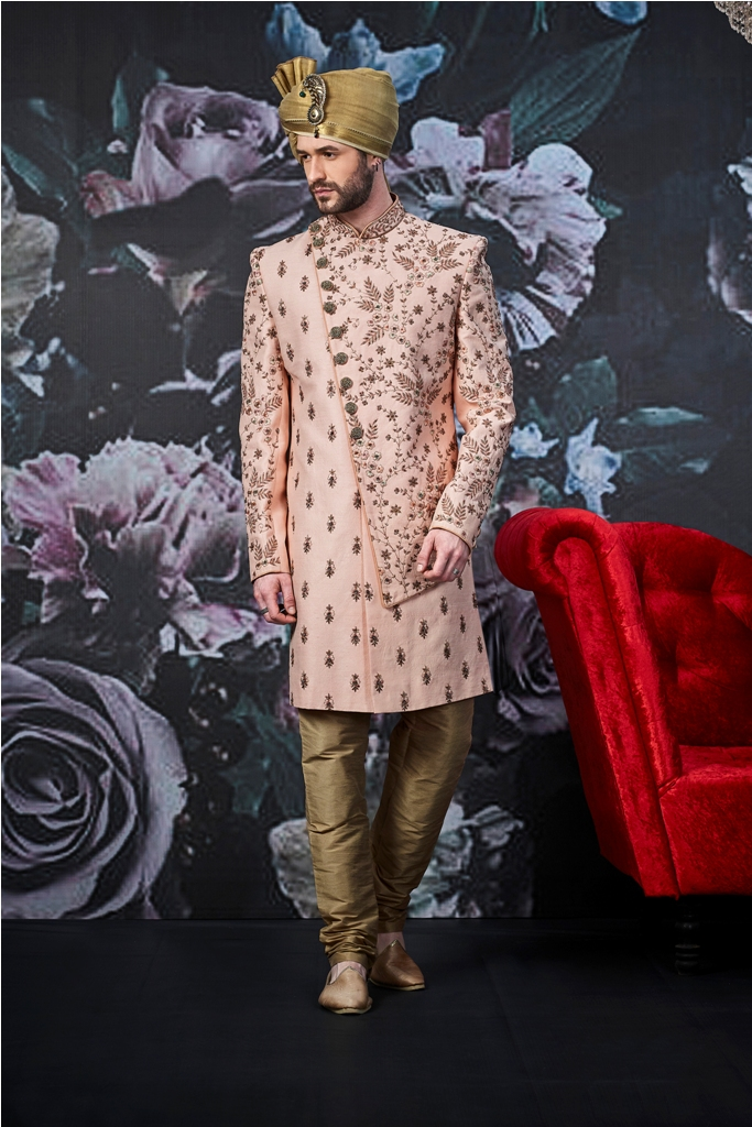 Designer heavy worked royal sherwani with new ideas