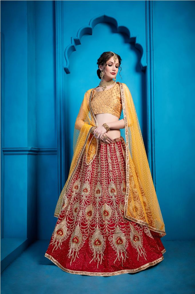 Go Colorful With This Very Beautiful Heavy Designer Lehenga Choli