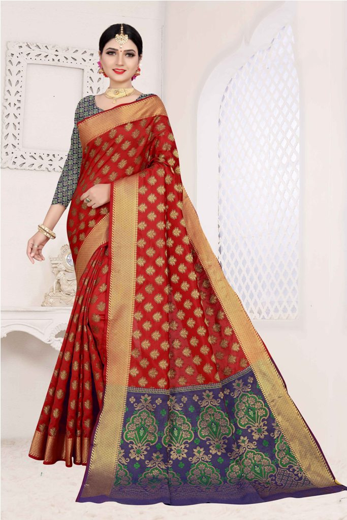 Here Is A Designer Silk Based Saree