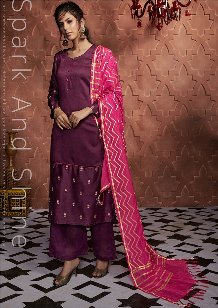 Flaunt Your Rich And Elegant Taste Wearing This Designer Readymade Suit