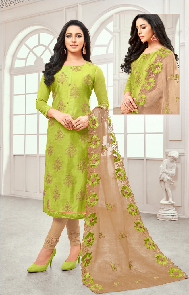 Rich And Elegant Looking Designer Straight Suit