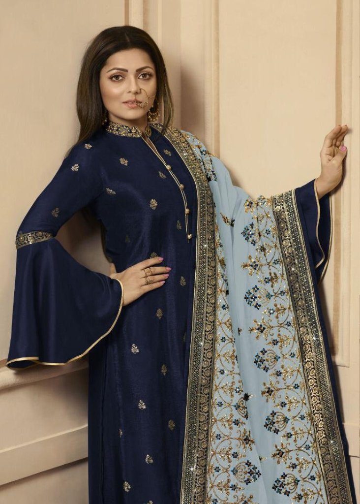Get Ready For The Upcoming Festive And Wedding Season With This Very Beautiful Designer Straight Suit