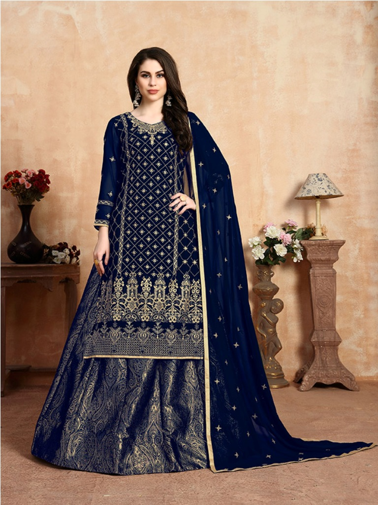 Here Is A Beautiful Heavy Designer Lehenga Suit