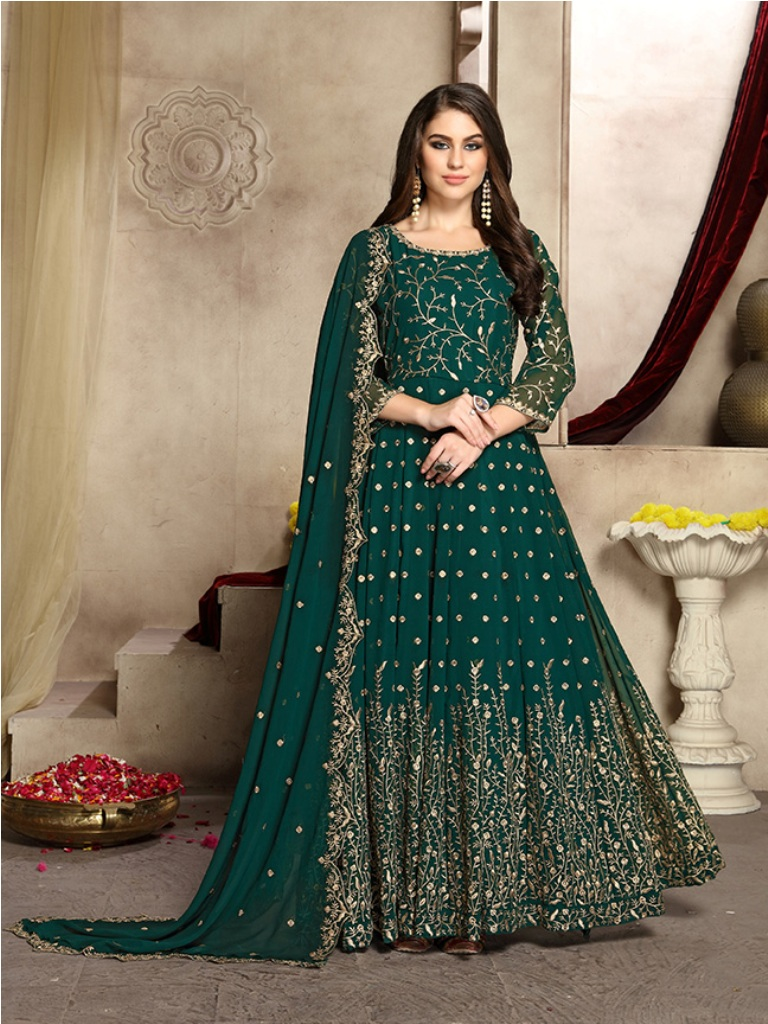This Festive And Wedding Season Wearing This Heavy Designer Floor Length Suit