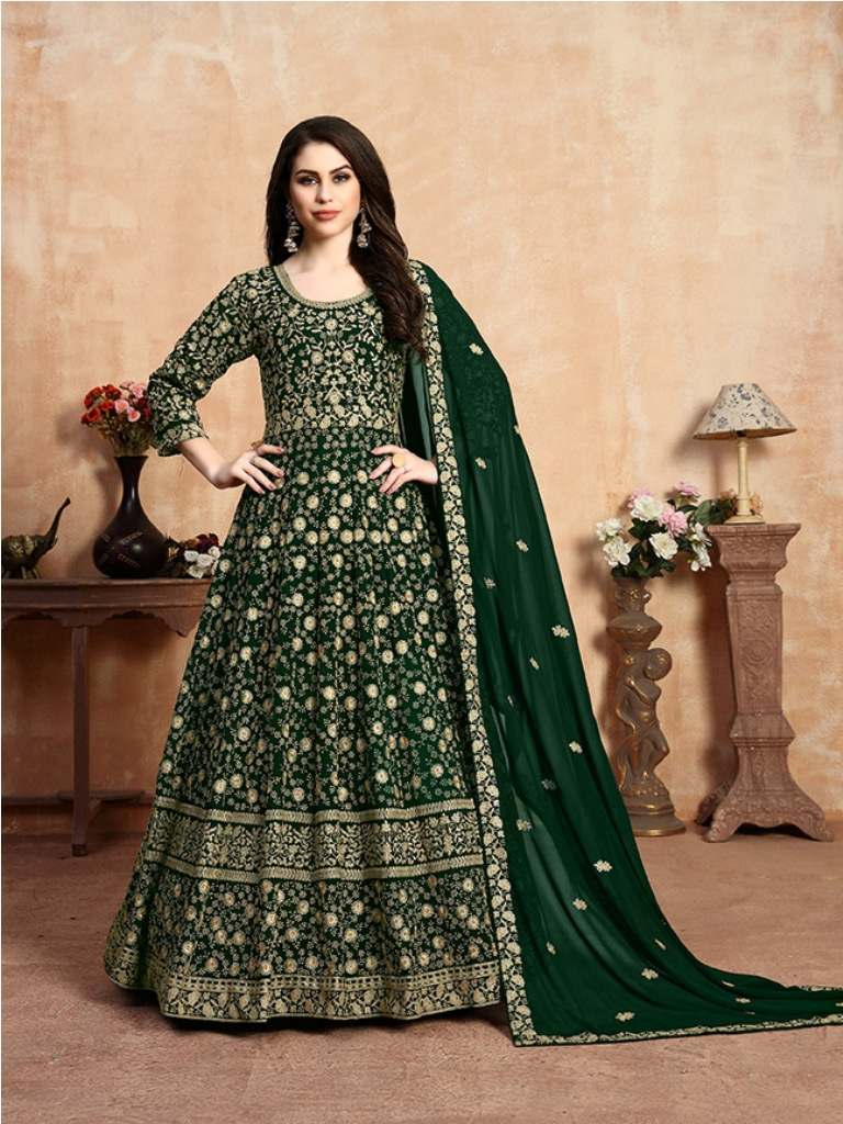 Get Ready For The Upcoming Wedding Season With This Heavy Designer Floor Length Suit