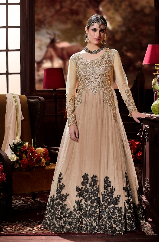 Beautiful Designer Suit In Beige