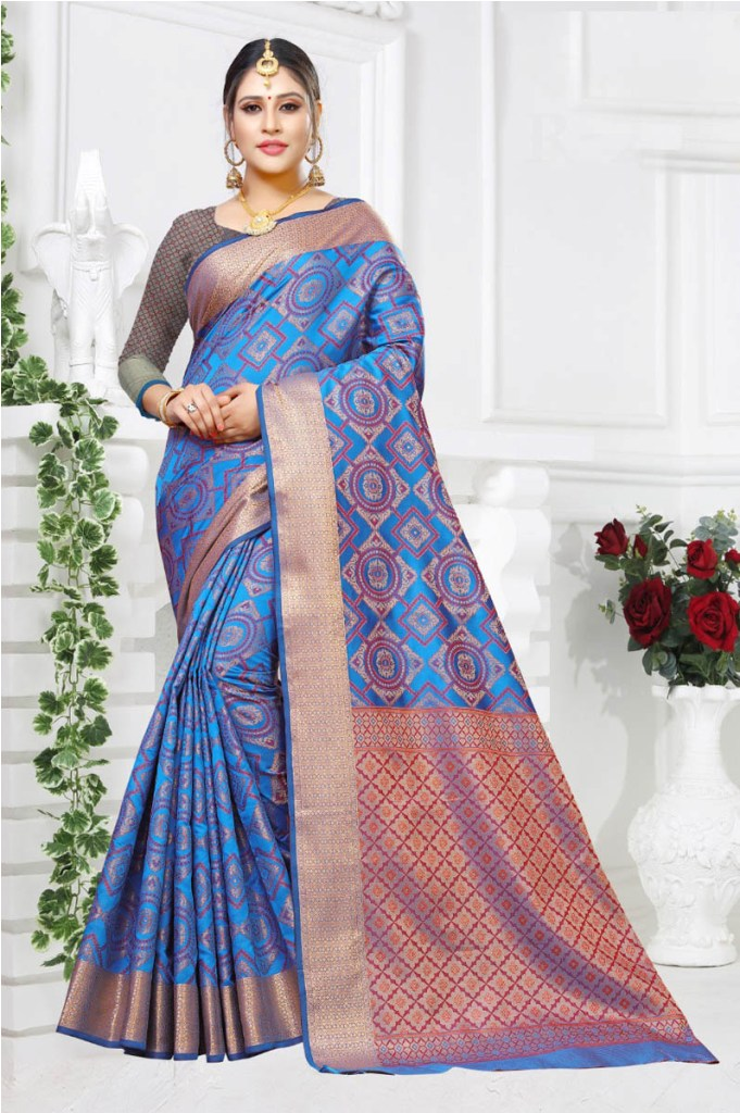 Pure Traditional Shade Is Here With This Designer Saree
