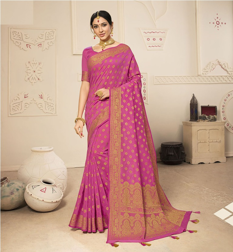 Flaunt Your Rich And Elegant Taste Wearing This Lovely Silk Based Saree