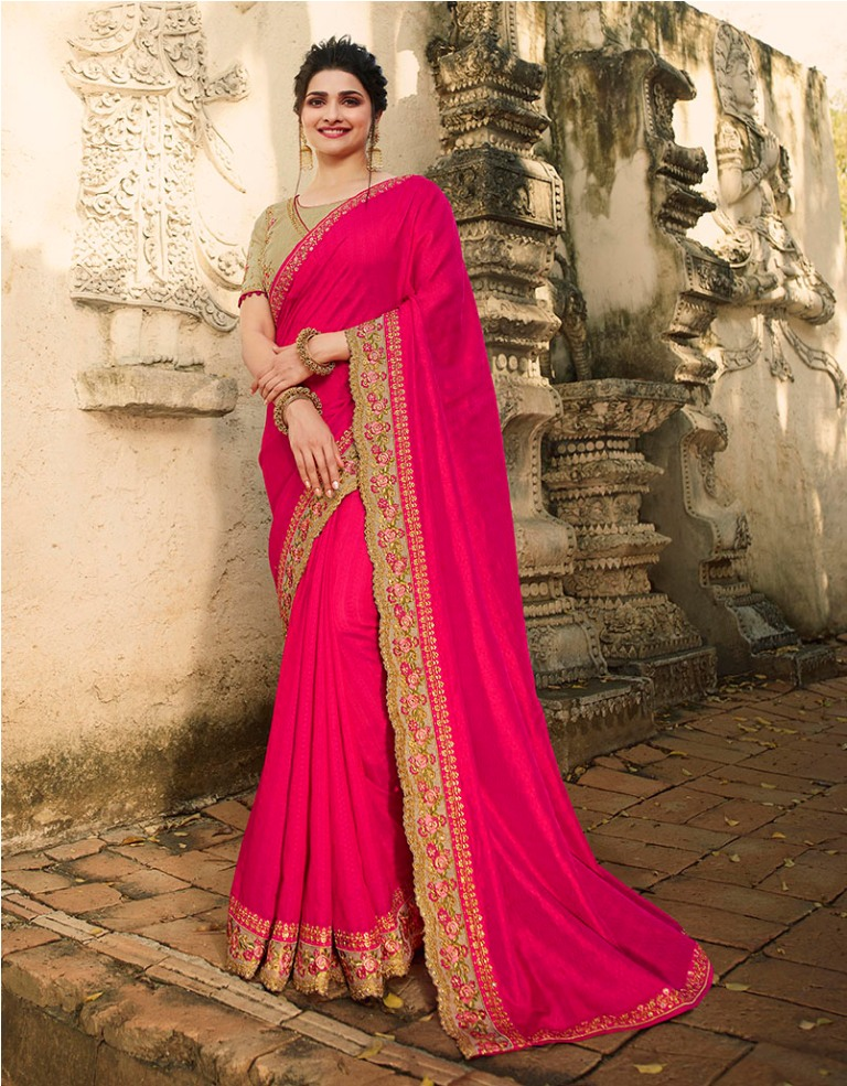 Catch All The Limelight At The Next Wedding You Attend Wearing This Attractive Looking Designer Saree
